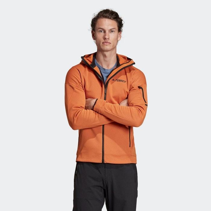 Veste à capuche climaheat fleece orange Adidas Performance