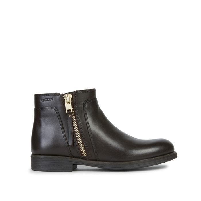 Kids agata leather boots dark brown Geox | La Redoute