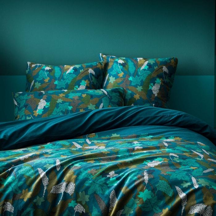 Horizontal Texturé à Rayures Bleu 144 ct en coton mélangé simple housse de couette