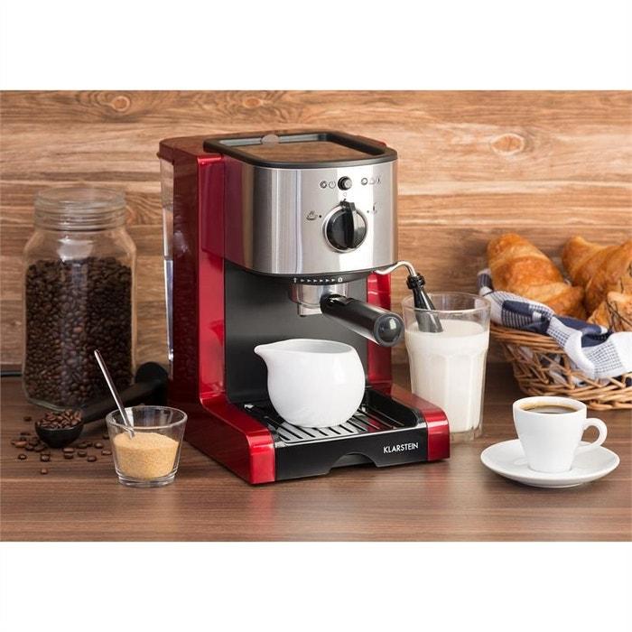Machine à Café Cafetière Expresso Multifonction Mousseur De Lait 15 Bars Rouge
