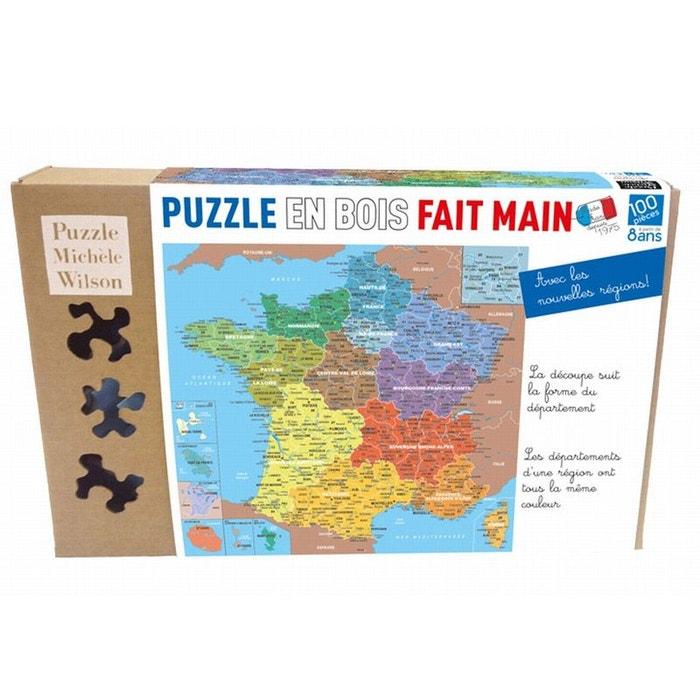 Puzzle 100 Pieces Carte De France Departement Puzzle Michele Wilson La Redoute