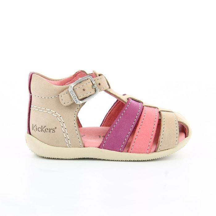 site officiel Promotion de ventes produit chaud Bigfly 1 soft leather sandals , beige + dark pink, Kickers ...
