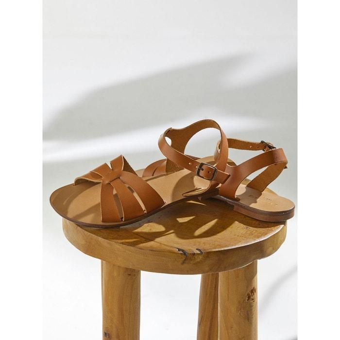 Sandales papillon cuir Cyrillus | La Redoute