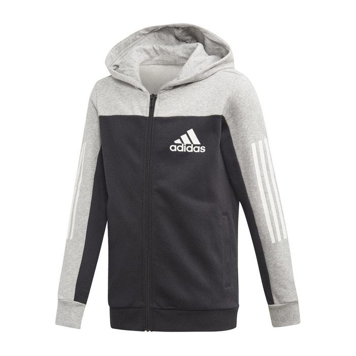 Sweat gilet à capuche 7 16 ans noir, gris Adidas