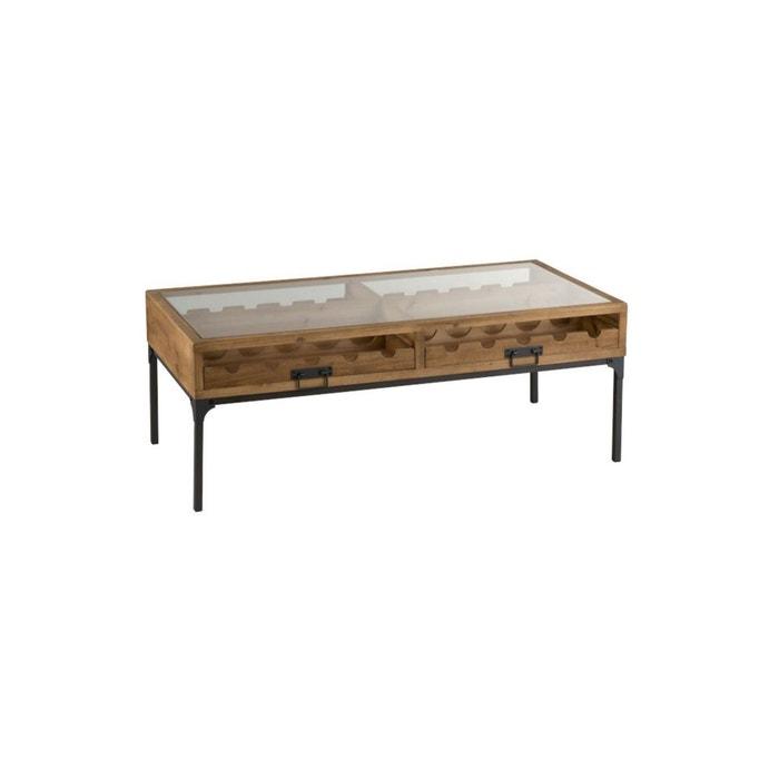 Table Basse Bois Avec Rangements Bouteilles Facolpa Marron Meubles Design La Redoute