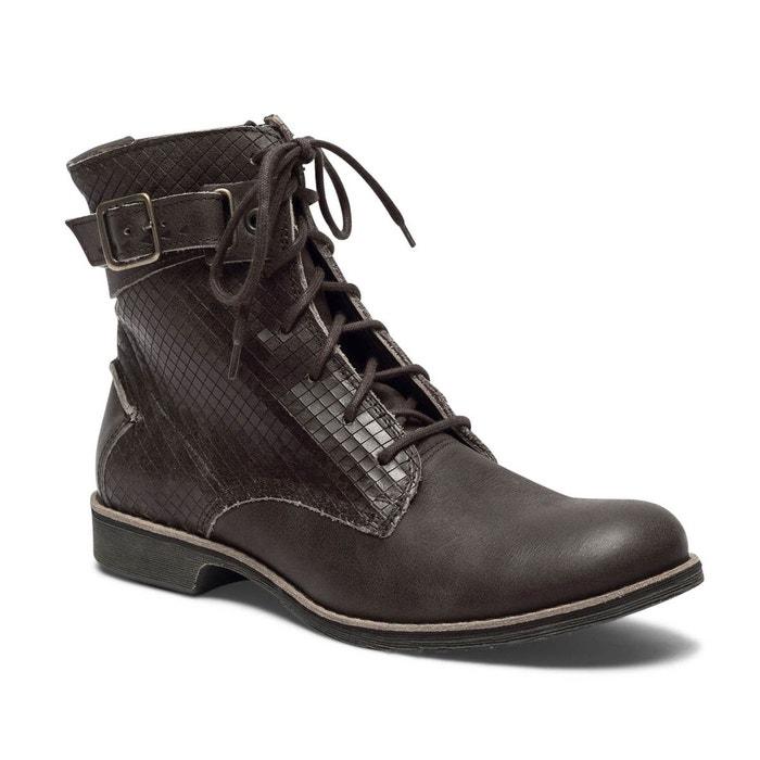 bottines femme cuir noir à lacetsmazzly