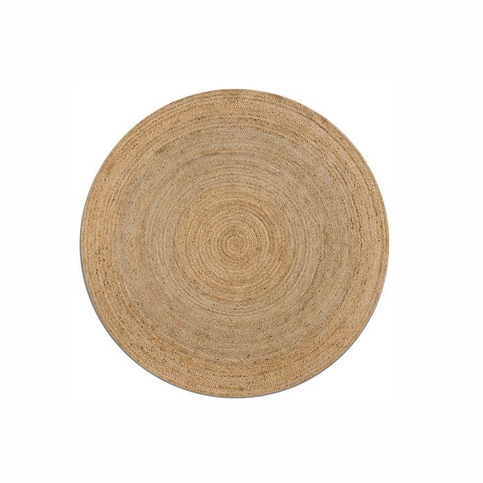Alfombra redonda de yute hempy, ø160 cm natural Am.Pm | La