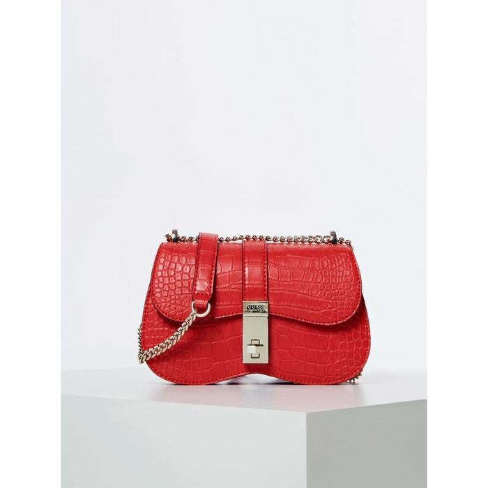 Mini sac à bandoulière asher crocodile rouge Guess | La Redoute