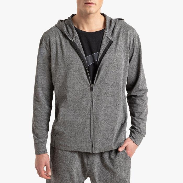 Sweat zippé d'entraînement dri fit gris chiné foncé Nike
