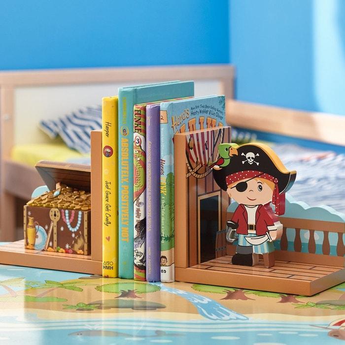 Serre Livres Enfant En Bois Pirate Island Marron Fantasy