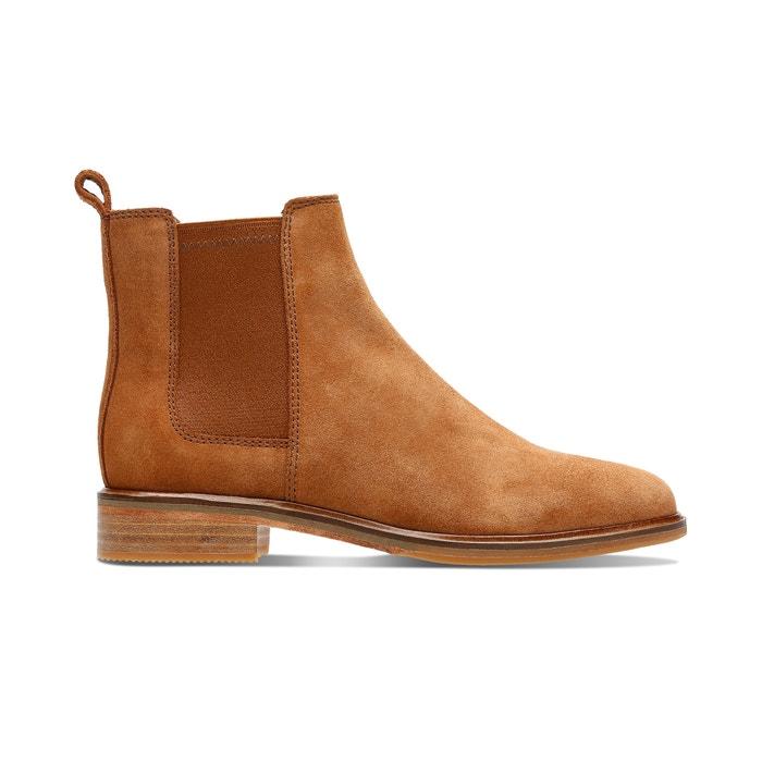 ClarksLa suède camel Boots clarkdale arlo cuir chelsea WEIbDYHe29