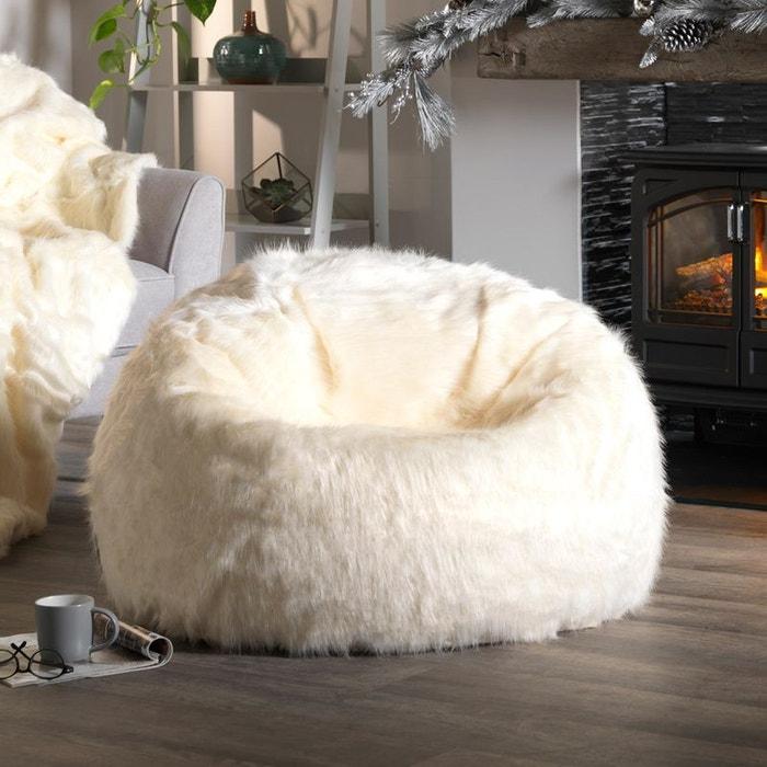 Pouf Poire Grande Taille En Fourrure 84cm X 70cm Icon Chaise Pouf Classique En Fausse Fourrure Salon Ameublement Et Decoration