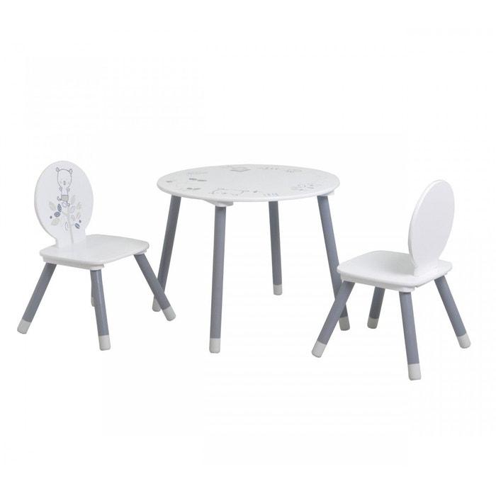 blanc ours Terre Table petit NuitLa enfant 2 chaises De DYHeW29IE