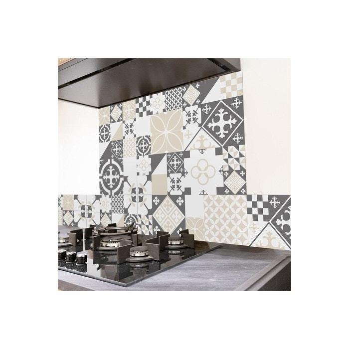 Crédence Cuisine Aluminium CIMENT STYLE GRIS-SABLE - L100xH20cm