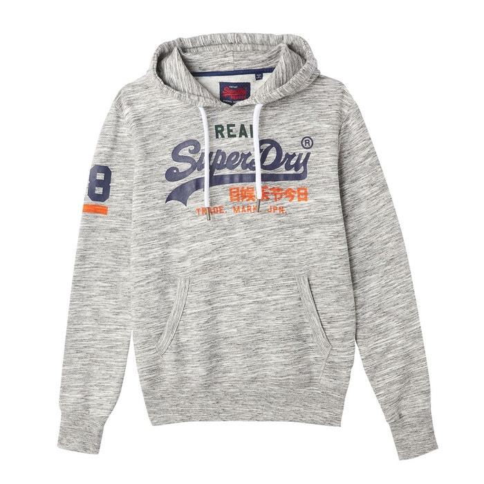 Sweat à capuche vintage logo tri gris clair Superdry | La