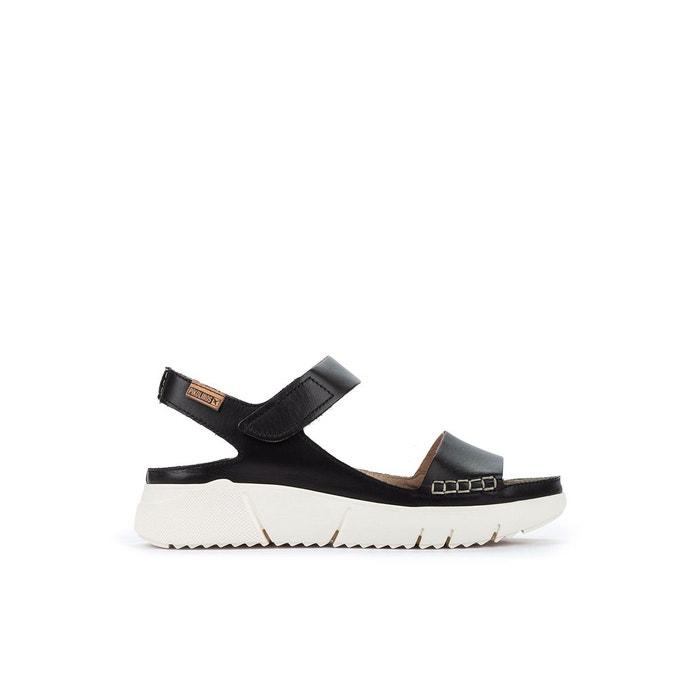 Sandales compensées en cuir petra w0c noir Pikolinos | La