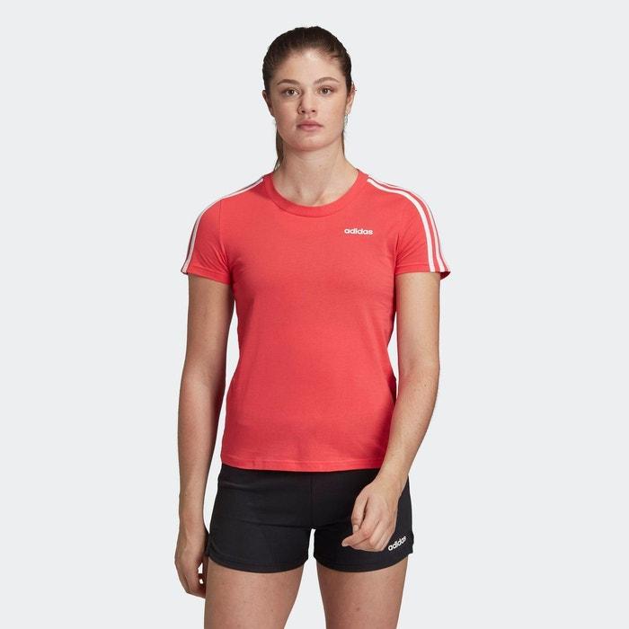 Acheter Red adidas Performance t shirt essentials 3 stripes