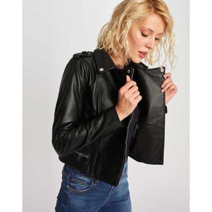 Blusão em imitação pele, tipo casaco estilo motard Morgan