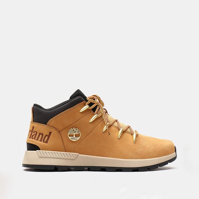 Sprint trekker leather trainers honey