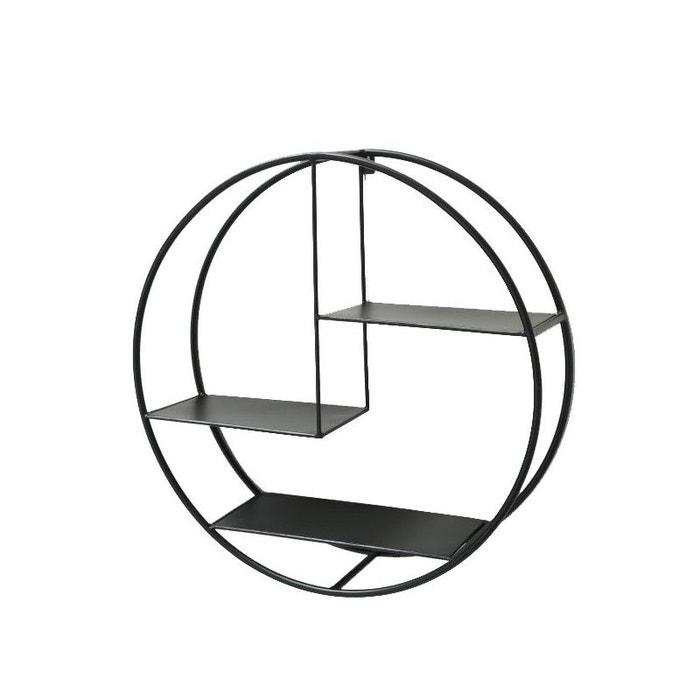 Etagere Murale Ronde Metal Noir Diametre 55cm Noir Wadiga
