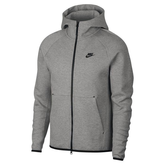Sweat zippé à capuche tech fleece gris chiné Nike | La Redoute