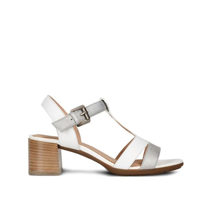 Sandales à talons respirantes en cuir marykarmen blanc