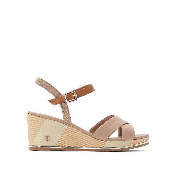 Sandales compensées estella 1d beige foncé Tommy Hilfiger