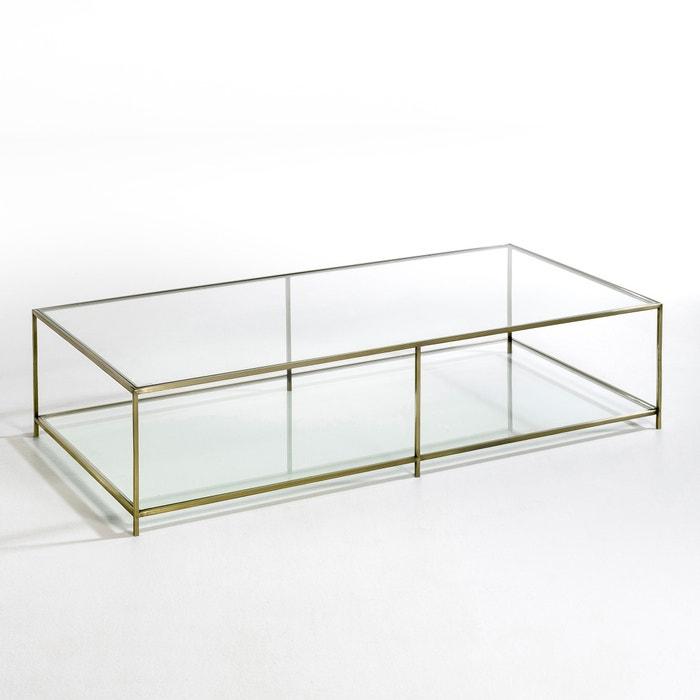 Salontafel Messing Glas.Rechthoekige Salontafel In Gehard Glas Sybil