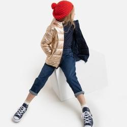 Chaqueta acolchada reversible y con capucha, 3-12 años