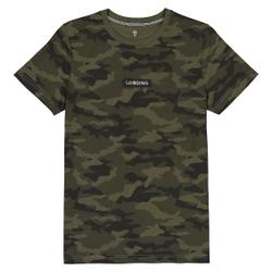 Camiseta con cuello redondo y estampado camuflaje, 10-16 años