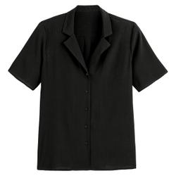 Camisa con cuello pijama de manga corta