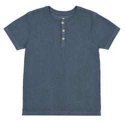 Camiseta cuello tunecino nido de abeja 3-12 años