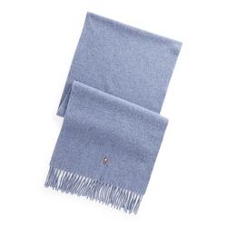 Bufanda de lana virgen con flecos