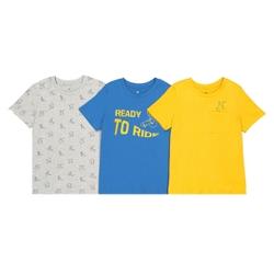 Lote de 3 camisetas de algodón ecológico 3-12 años