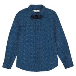 Camisa estampada, pajarita retirable 3-12 años