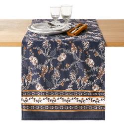 Camino de mesa de algodón lavado estampado, Teodora