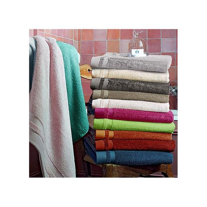 Sensei La Maison du Coton Lot de 2 Serviettes de Toilette Jacquard Bio 50x100cm 520gr//m/² Malawi