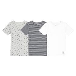 Lote de 3 camisetas interior de algodón orgánico, 2-12 años