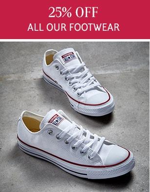 25% Off Footwear
