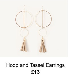 Hoop and Tassel Earrings - £13