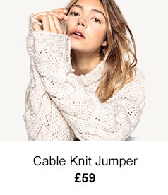 Cable Knit Jumper - £59
