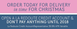 Open a La Redoute Credit Account & Don't Pay Anything Until 2018