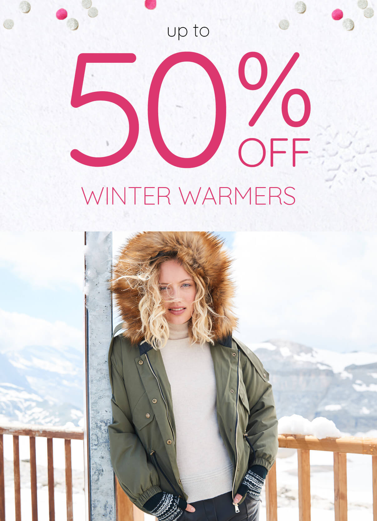 Winter Sale - Up to 50% Off Winter Warmers