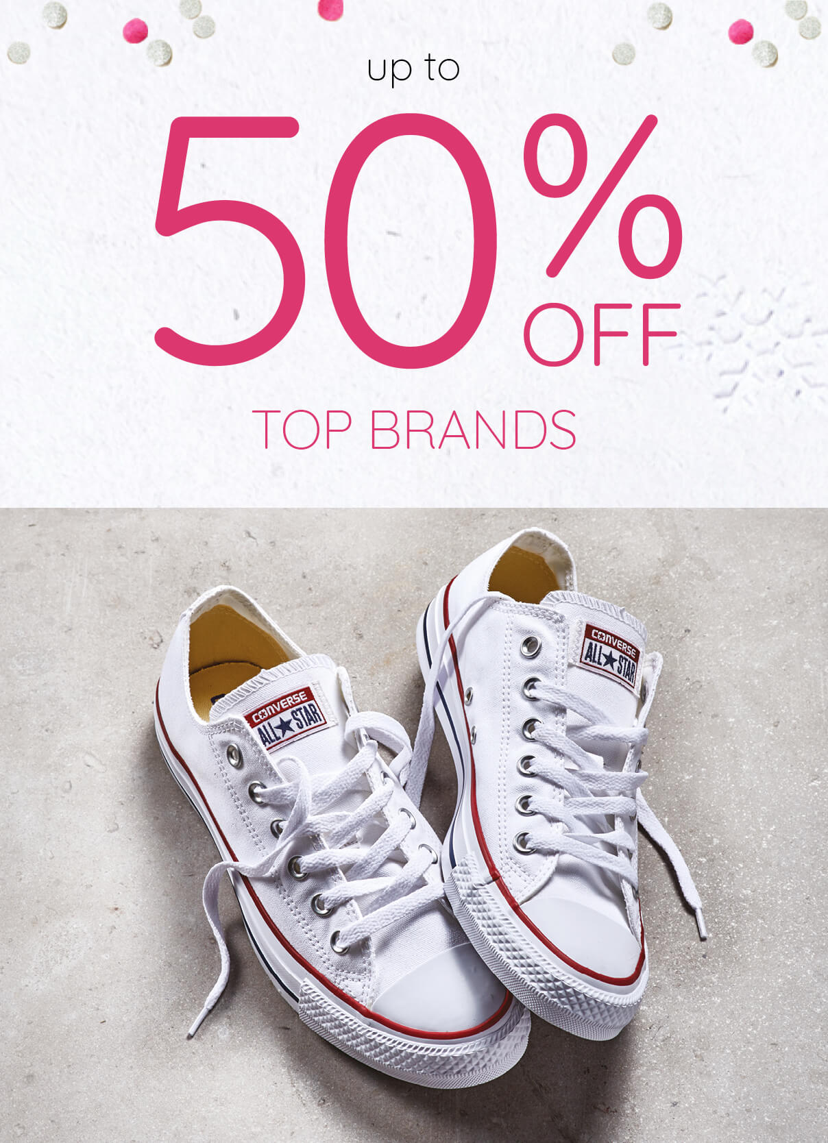 Winter Sale - Up to 50% Off Top Brands