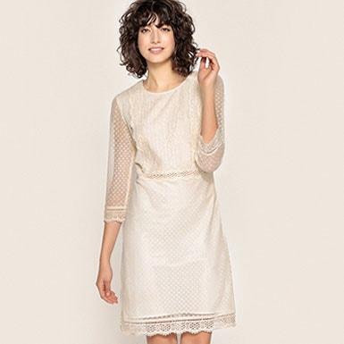 Mesh Style Lace Dress