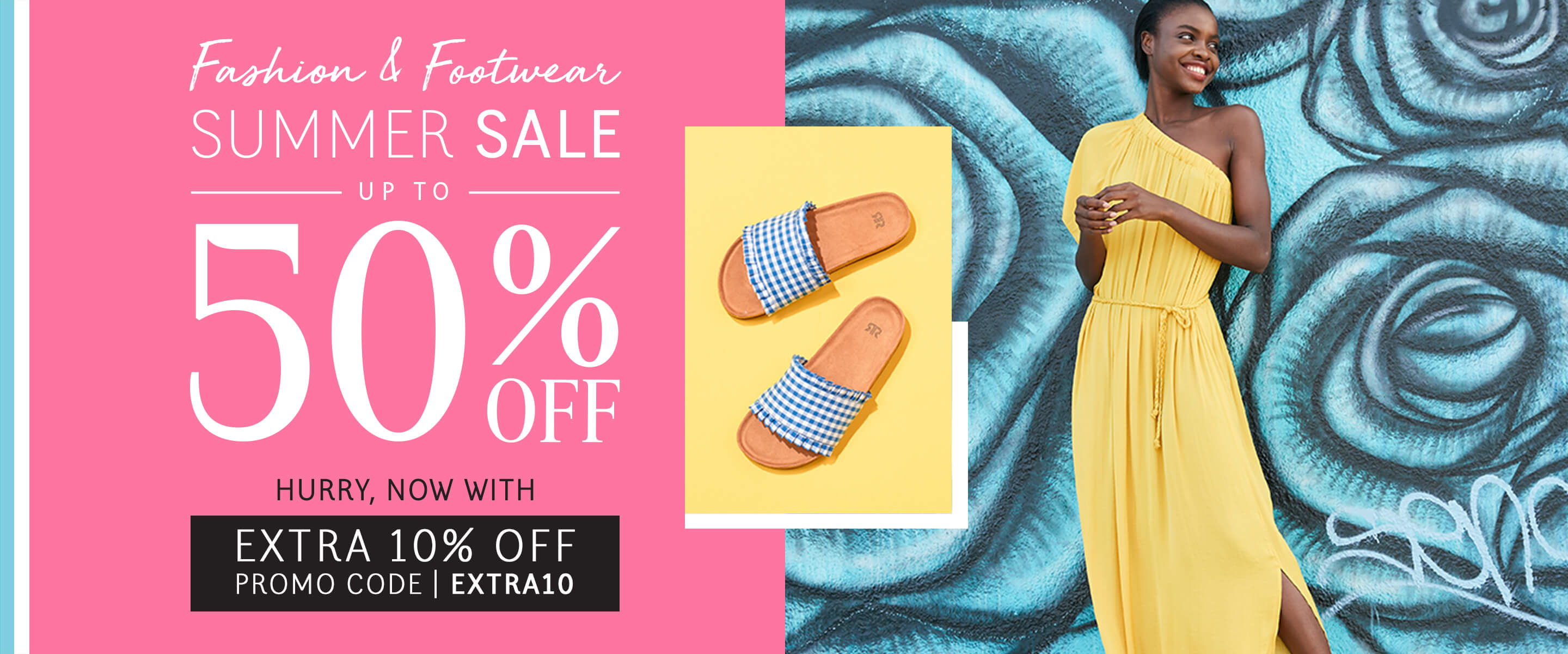 Summer Sale - Up To 50% Off. Hurry - Now With Extra 10% Off