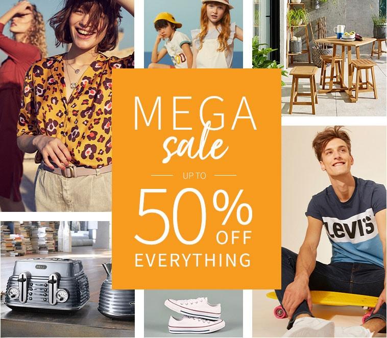 Mega Sale - up to 50% OFF