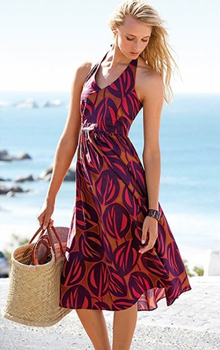 e67b2b3aea A slightly classier option from Laura Clement, this long summer dress is  ideal for ladies with a long, slender figure. Its matching drawstring and  belt add ...